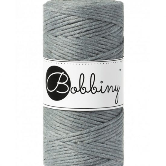 bobbiny 3 mm grey frutselsenmeer